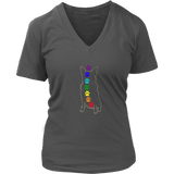Chakra Australian Cattle Dog Ladies V-neck