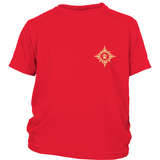 Boy's Small Paw Compass Rose Dark Tee