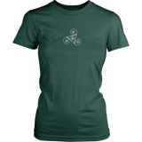Ladies Small Paw Triskelion Dark T-shirt