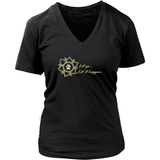 Ladies Let go...Let it Happen Dark V-neck