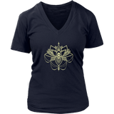 Paw Lotus 2017 Dark Ladies V-neck Tee