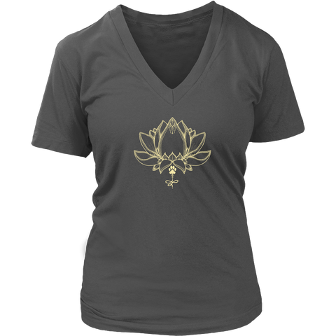 Ladies Paw Lotus 2016 Dark V-neck