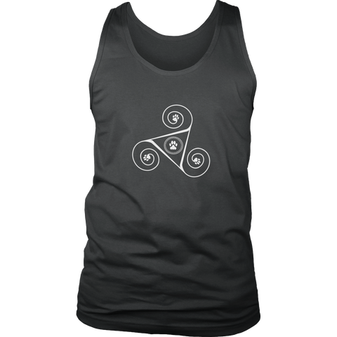 Men's Paw Triskelion Dark Tank