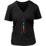 Chakra Doberman Ladies V-neck