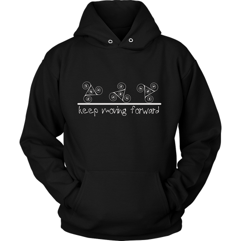 Keep Moving Forward Dark Hoodie