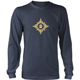 Paw Compass Rose Dark Long Sleeve Tee