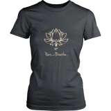 Paws and Breathe Ladies Dark Tee