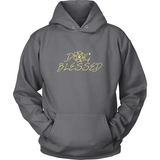 Ladies Dog Blessed Dark Hoodie