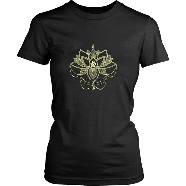 Paw Lotus 2017 Dark Ladies Crewneck Tee