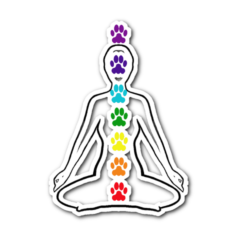 Ladies Paw Chakra Sticker