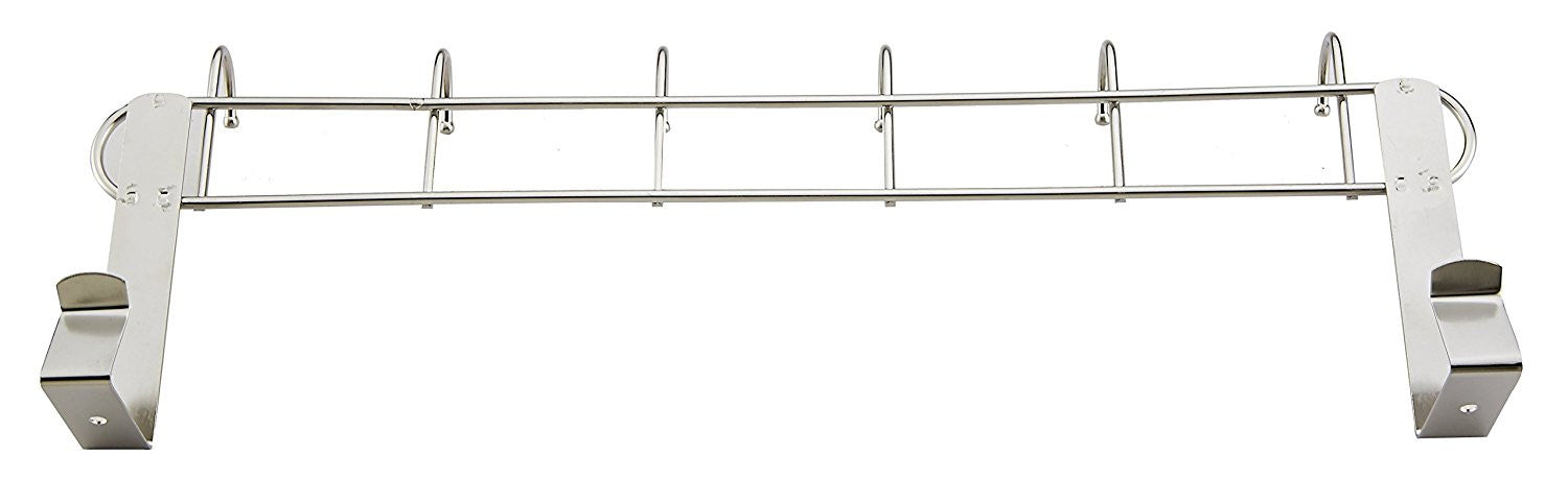 Pro Chef Kitchen Tools Stainless Steel Over The Door Rack   6 Hook  Organizer Rack Hanger With No Hole Drilling Required For Jewelry, Purses,  Keys, Hats, ...