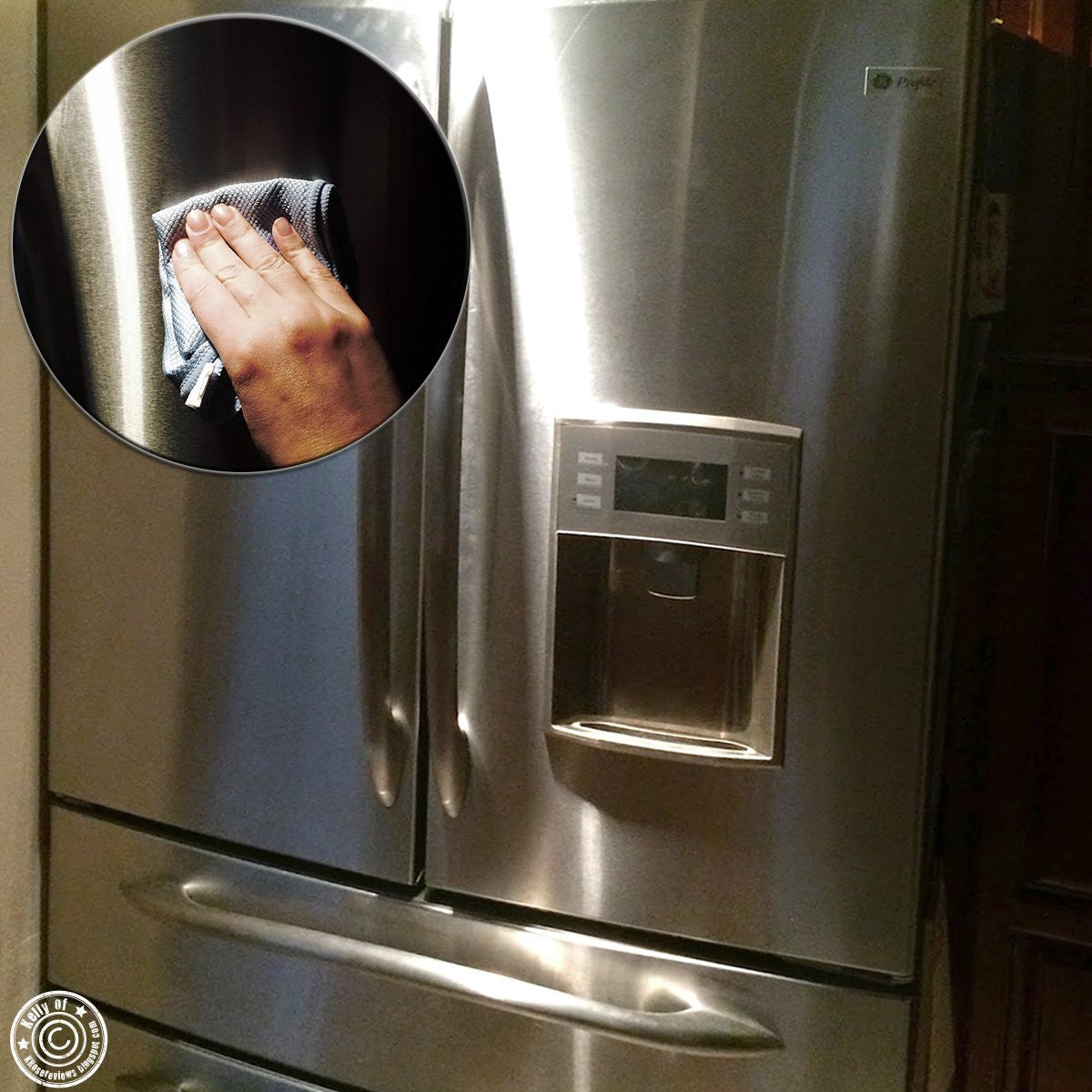 Pro Chef Kitchen Tools Stainless Steel Appliance Polishing Cloth Clean And Polish Appliances Counters Fridge Doors Sinks Windows With Easy Wipes Using