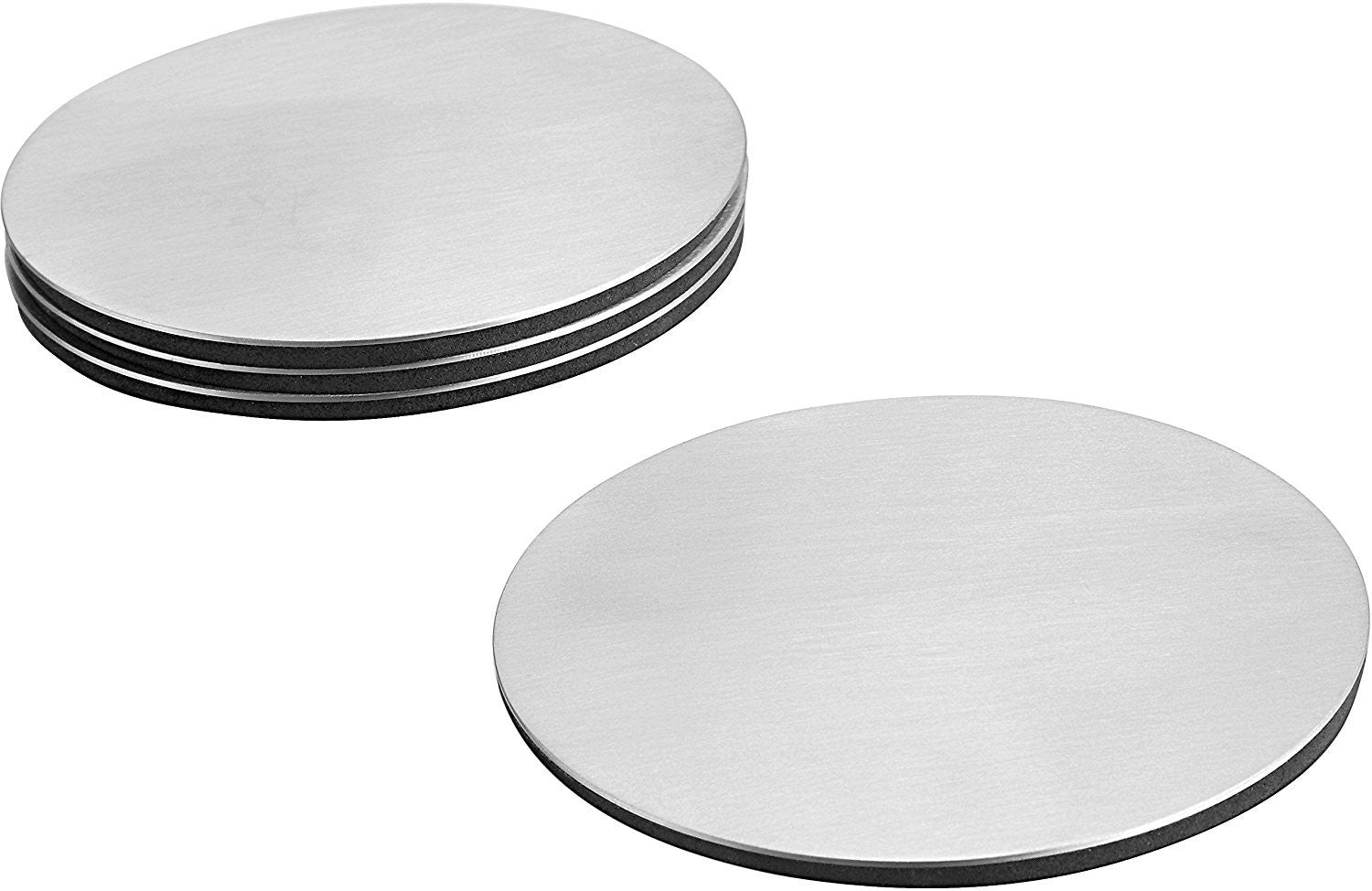 stainless drink coasters set of   pro chef kitchen tools -  glass drink coasters set of   for beer mats cup coaster tea