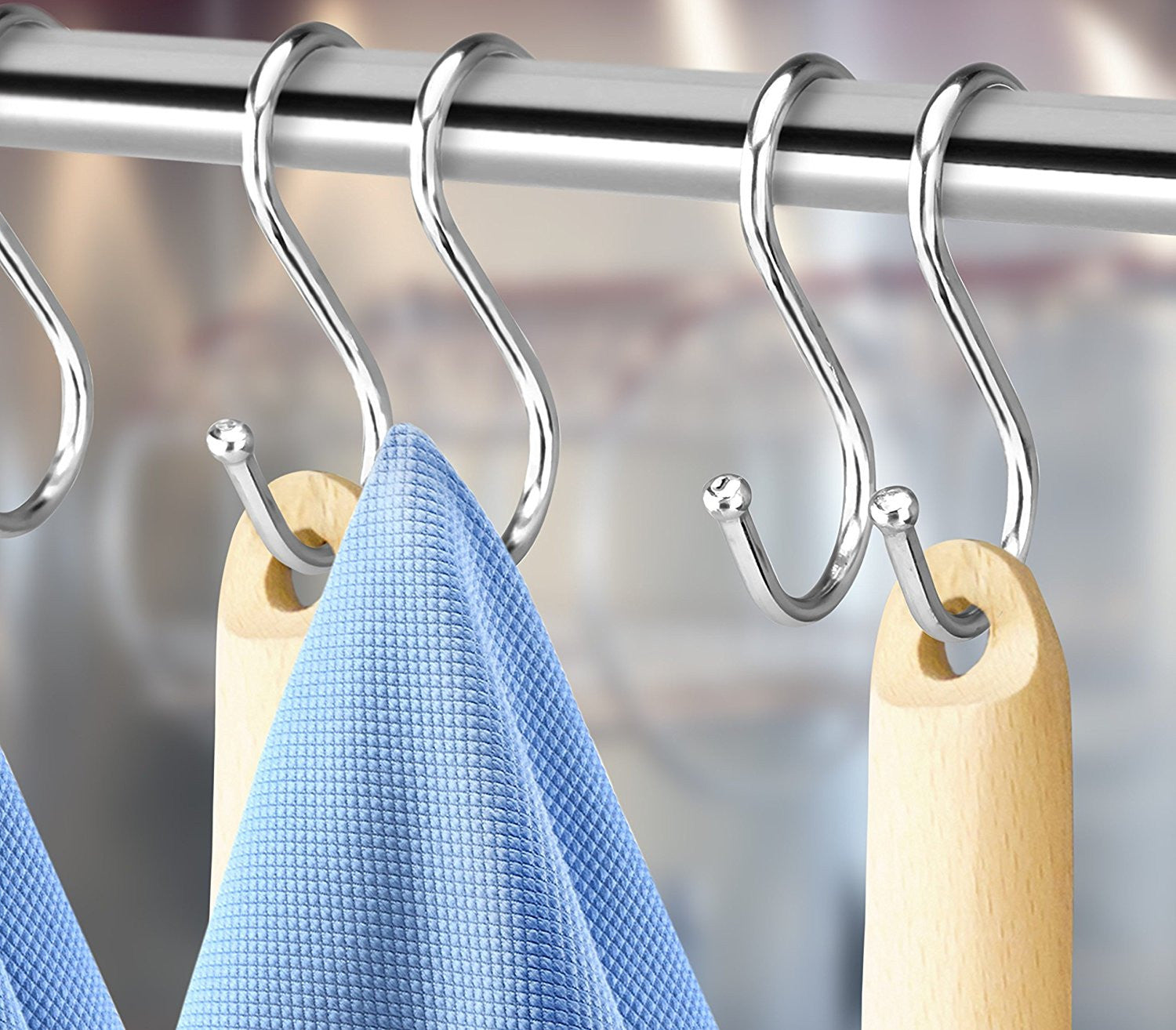 Review windows 10 mobile build 14328 windows clip60 - Hanging Kitchen Tools Pro Chef Kitchen Tools Stainless Steel S Hooks Set 10 Double Hanging