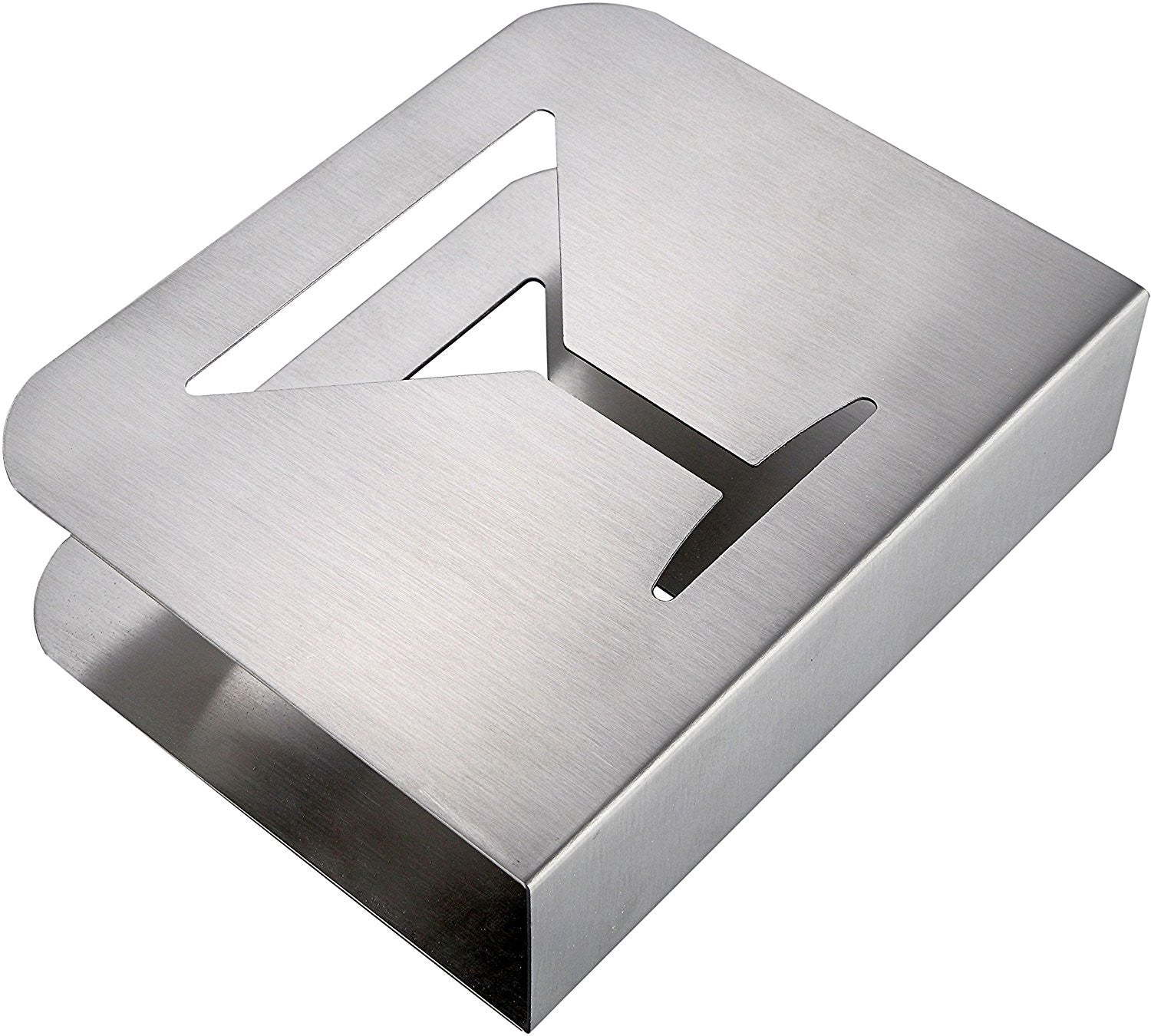 Square restaurant tables -  Stainless Steel Cocktail Napkin Holder Metal Square Serviette Dispenser With Fancy Cocktail Wine Glass Design For Home Bars And Restaurant Tables
