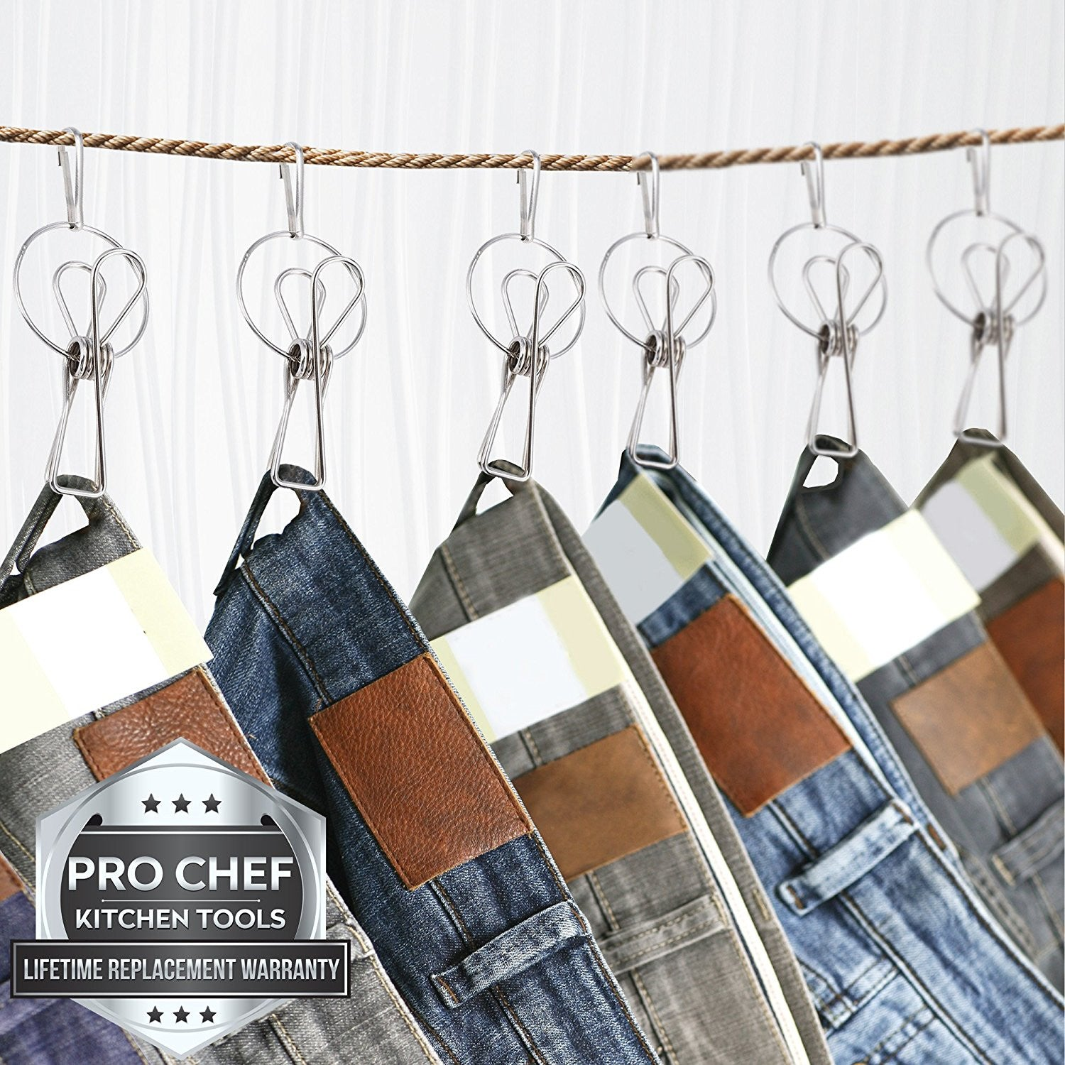 Hanger Clips - Laundry Clothes Pins - Metal Hanging Drying Rack