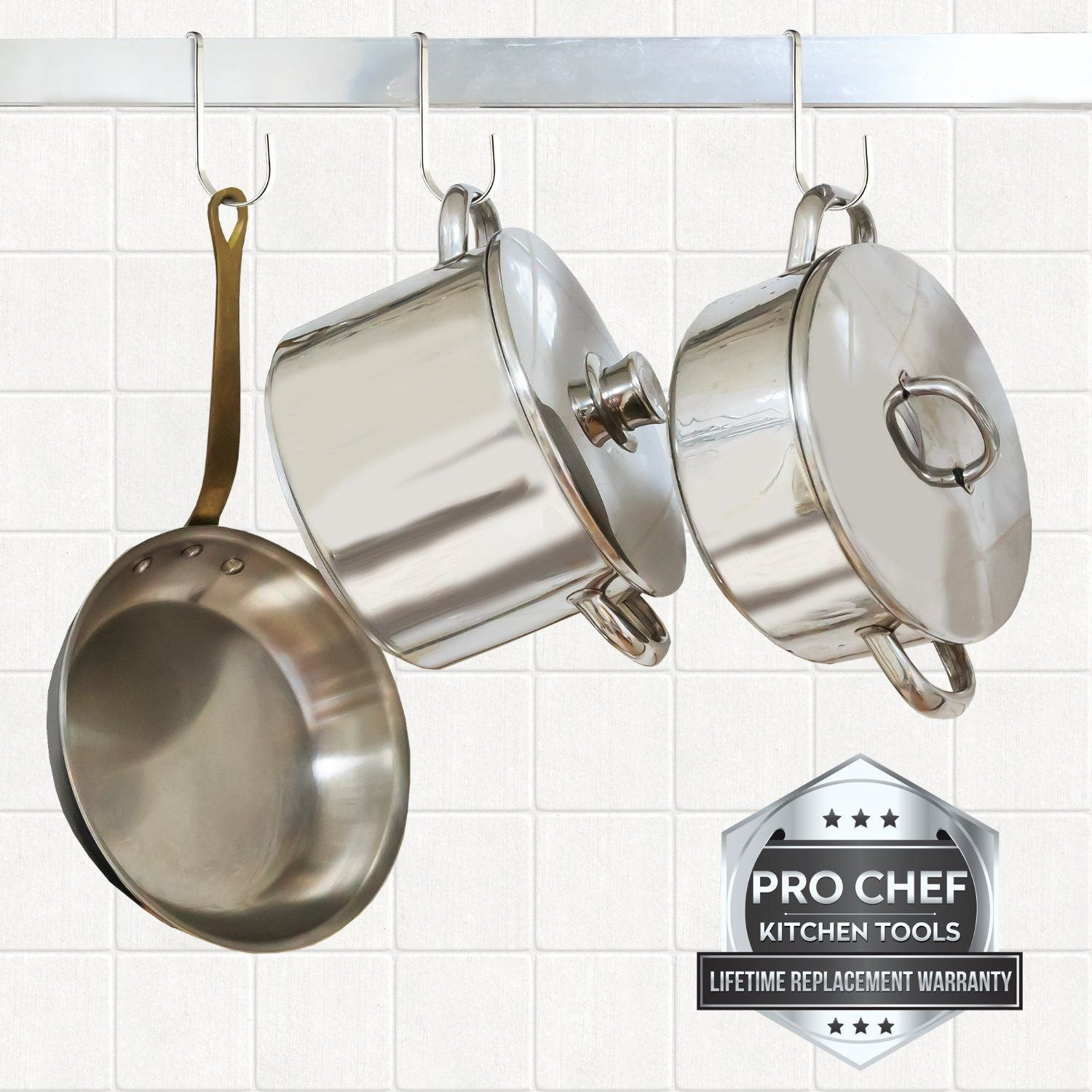 ... Pot Rack Hooks In 10 Pack Stainless Steel (NEW)   Pro Chef Kitchen  Tools ...
