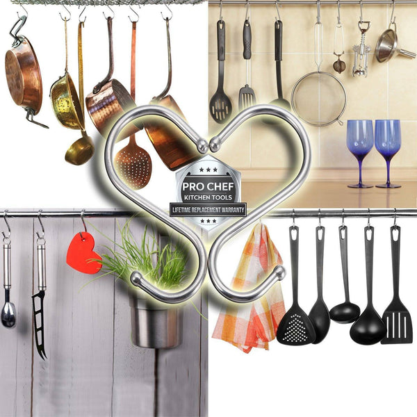 Pro Chef Kitchen Tools Stainless Steel S Hook Pot Hanger