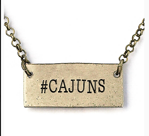 #Cajuns necklace
