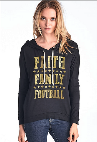 Faith, Family, Football Hoodie