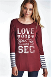 Love God, Sweet Tea & the SEC t-shirt