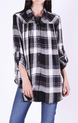 Tunic in Plaid Top