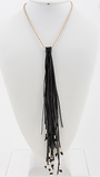 Choker Necklace with Fringe Drop