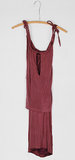 Burgundy on Burgundy Dress (Color pictured to show fit)