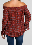 Boho in fall top