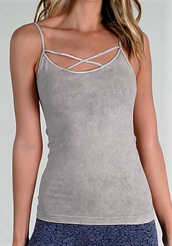 Cross Strap Cami Top (2 Colors Available)