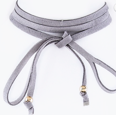 Suede Wrapped Choker Necklace