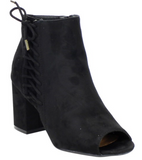 The Lacie Open Toe Bootie