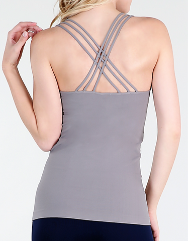 Criss Cross Back Tank (Available in multiple colors)