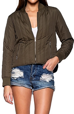 Top of the town Olive Jacket
