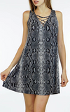 Snakeskin Lace Up Dress by Veronica M