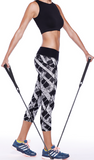 Abstract Print Capri Pants