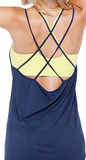 Double Cross Relaxed Tank Top (2 Colors Available)