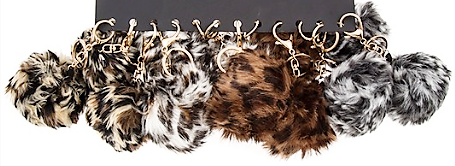 Animal Pom Pom Key Chain