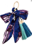 Print Ribbon Double Tassel Key Chain / Purse Candy (3 Colors Available)