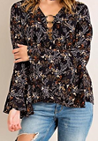 Ring around the rosey bell sleeve top