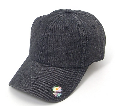 Black Denim Wash Cap