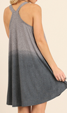 Dip Dye Dress with Racer Back Detail