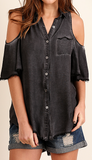 Over the Edge Button Up Top