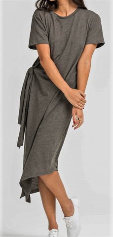 Casual Midi Knotted Dress