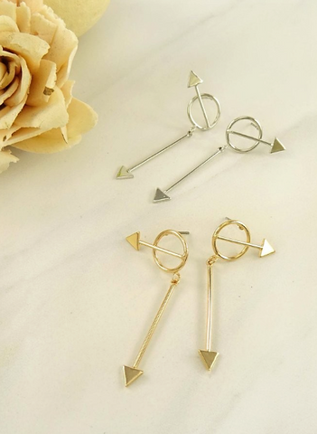 Which Direction Earrings (Gold & Silver Finish Available)