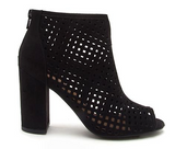 Cut it Out Booties in Black