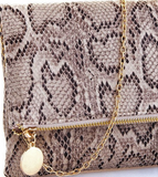 Snakeskin Clutch (3 Colors Available)