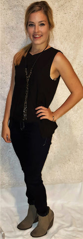 Black on Bourbon Blouse