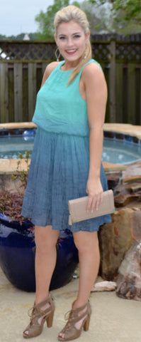 Watercolored Ombre dress