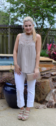 Sleeveless Embroidered Shirt